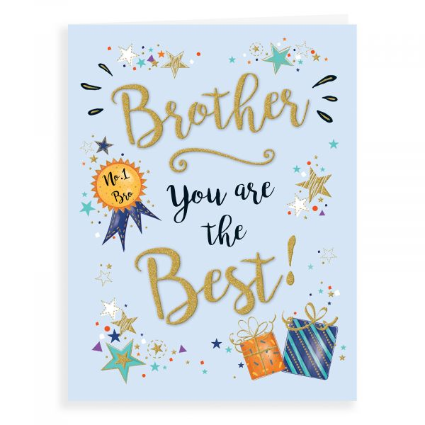 Birthday Card Brother, No. 1  Bro