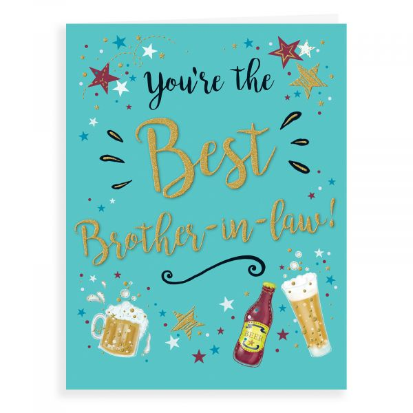 Birthday Card Brother In Law, Beer