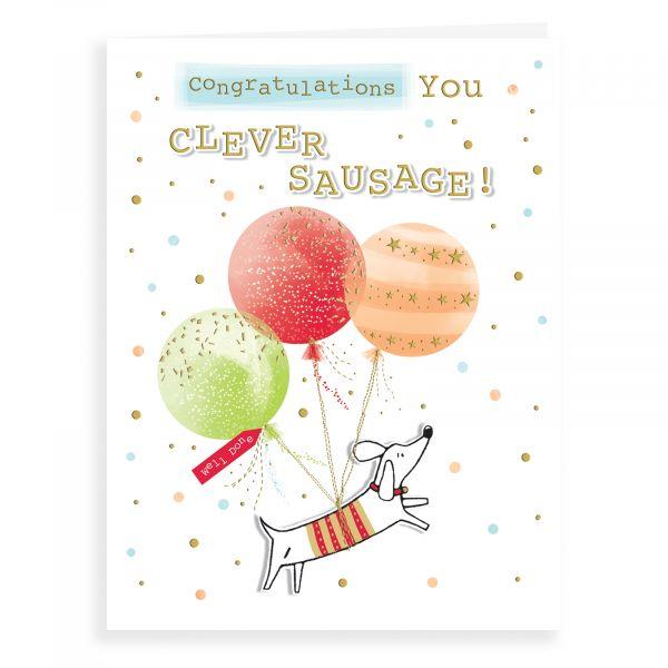Congratulations Card, Clever Sausage