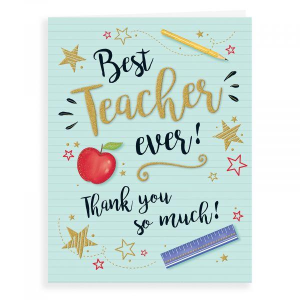 Thank You Card Teacher, Apple