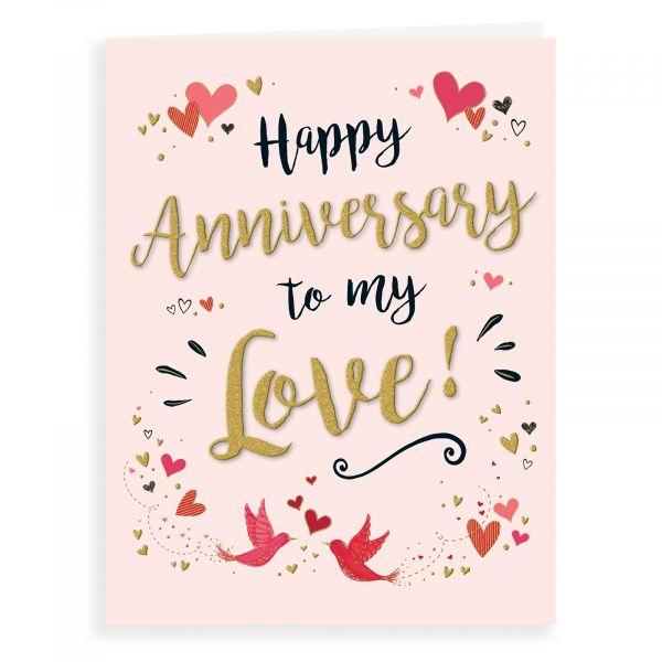 Anniversary Card Our, Heart Birds