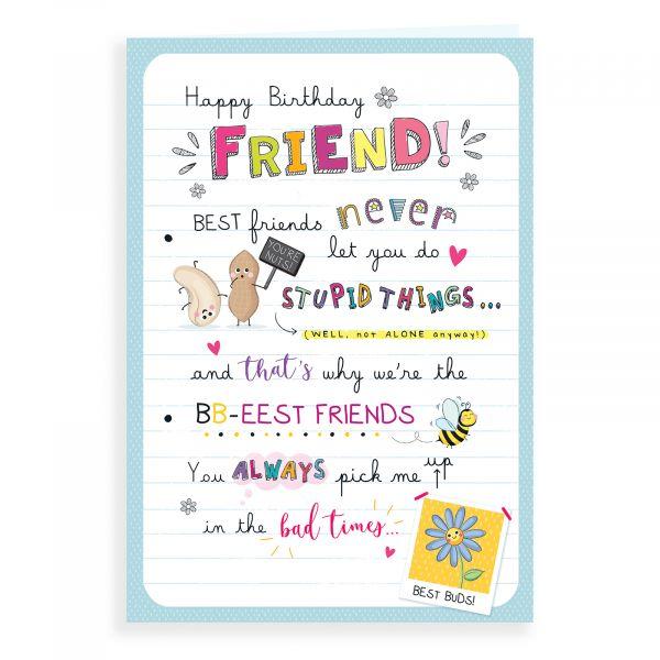 Birthday Card Friend, Bb Eest Friends