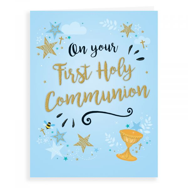 Communion Card, First Holy Chalice