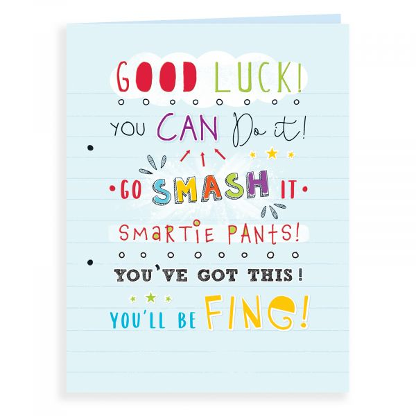 Good Luck Card Exam, You Can Do It