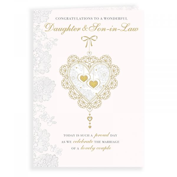 Wedding Card Daughter and Son in Law