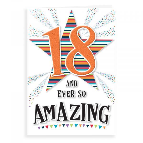 Birthday Card Age 18, Ever So Amazing