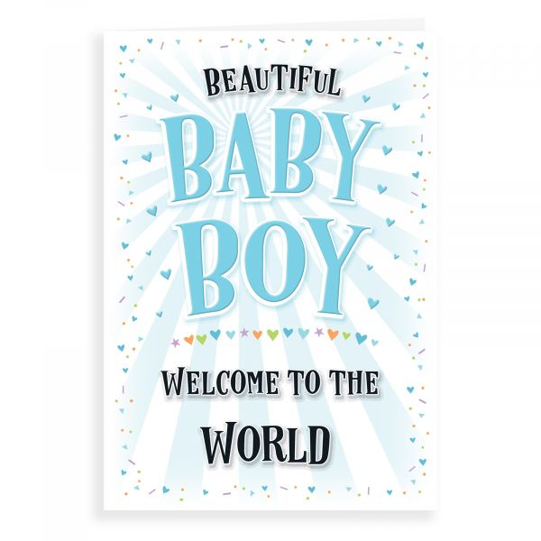 Baby Card Baby Boy, Welcome To The World