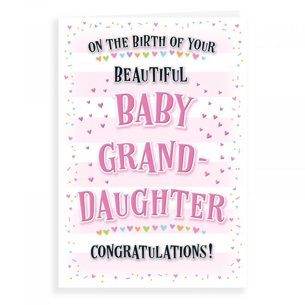 Baby Card Birth of Granddaughter, Welcome Little One