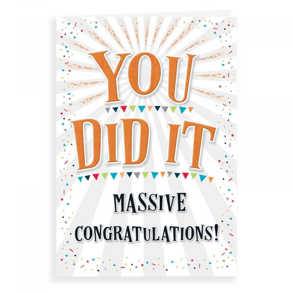 Congratulations Card, You Did It