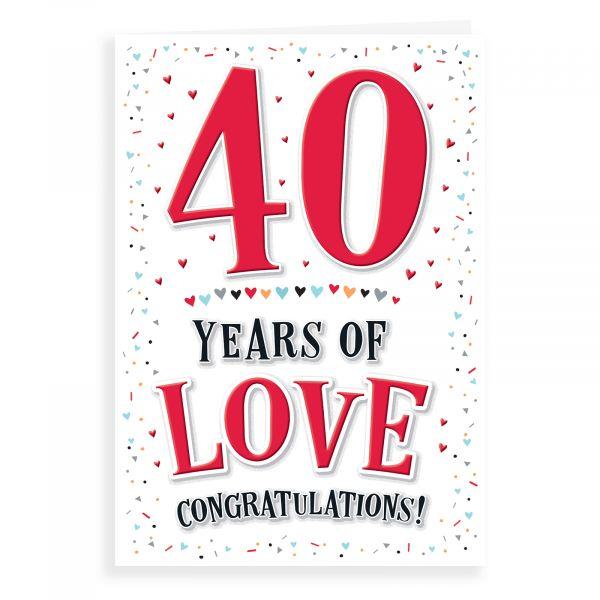Anniversary Card Ruby, 40 Years Of Love