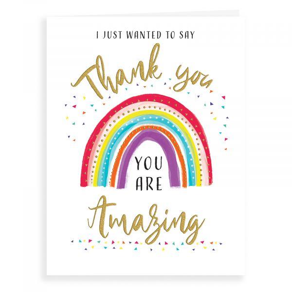 Thank You Card, Rainbow