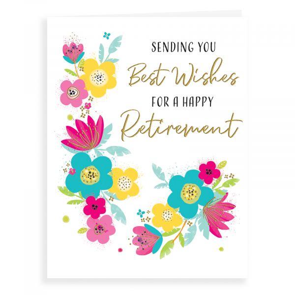 Retirement Card, Floral
