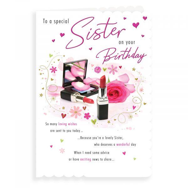Birthday Card Sister, Makeup