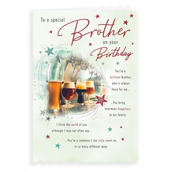 Birthday Card Brother, Beersin A Row