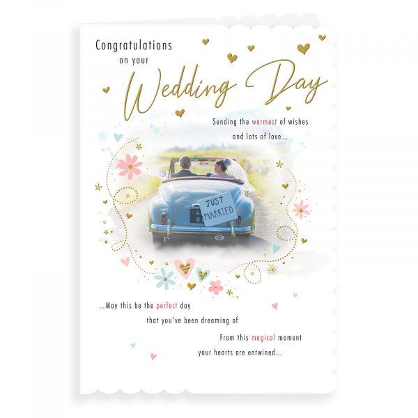 Wedding Card, Couple In Car