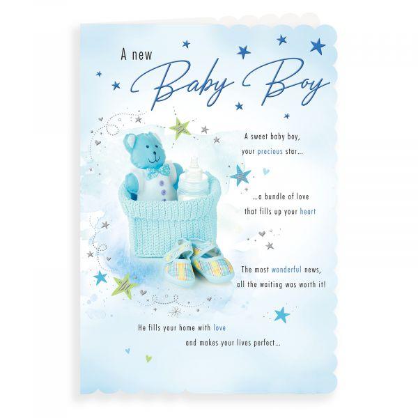 Baby Card Baby Boy, Teddy