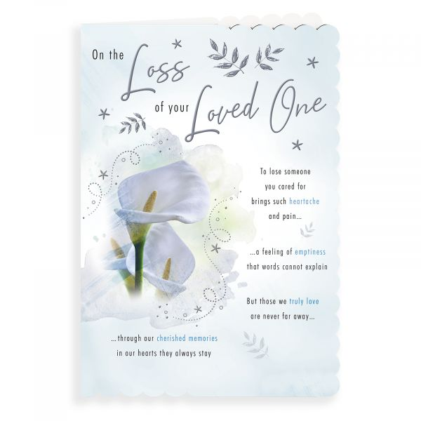 Sympathy Card, Lilies With Love