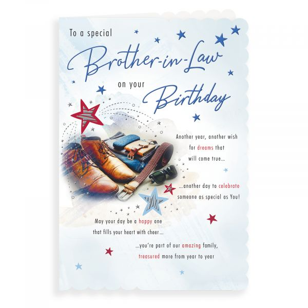Birthday Card Brother In Law, Shoes Belt Glasses