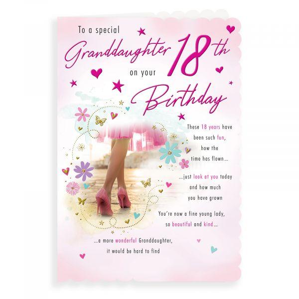 Birthday Card Age 18 Granddaughter, Girl In Heels