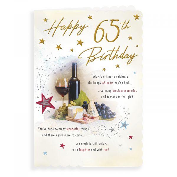 Birthday Card Age 65 M