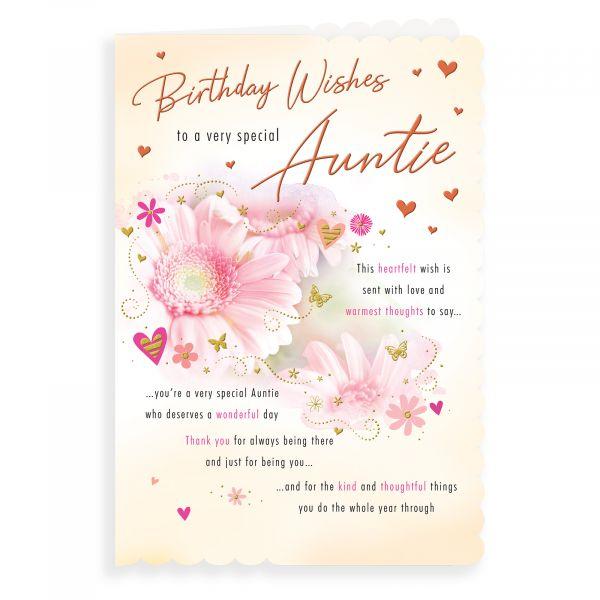 Birthday Card Auntie, Flower Photo