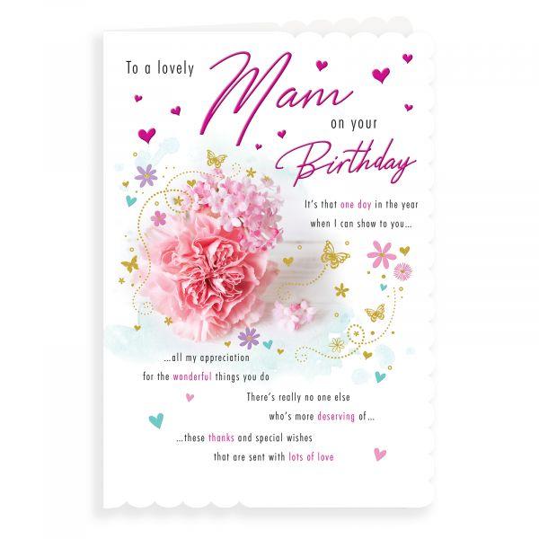 Birthday Card Mam, Flowers Photo