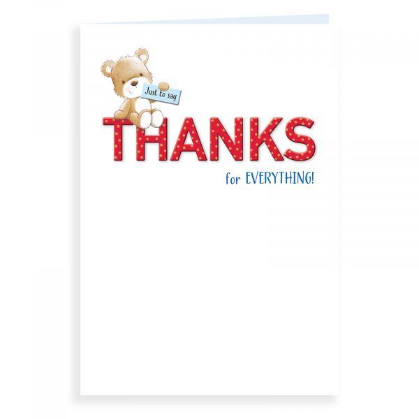 Thank You Card, Bear On Text
