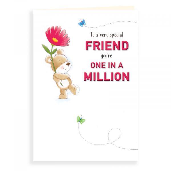 Birthday Card Friend, Bear One In A Million