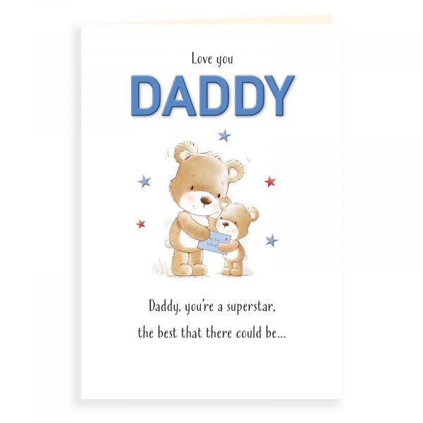 Birthday Card Daddy, Bear Giving Card