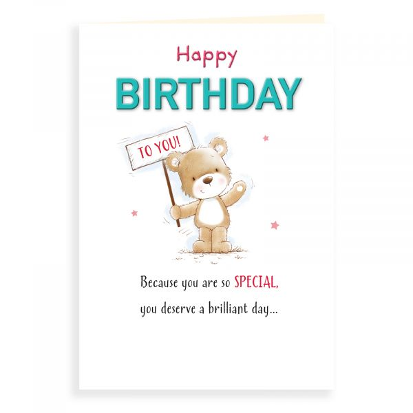Birthday Card Open, Bear Hb To You