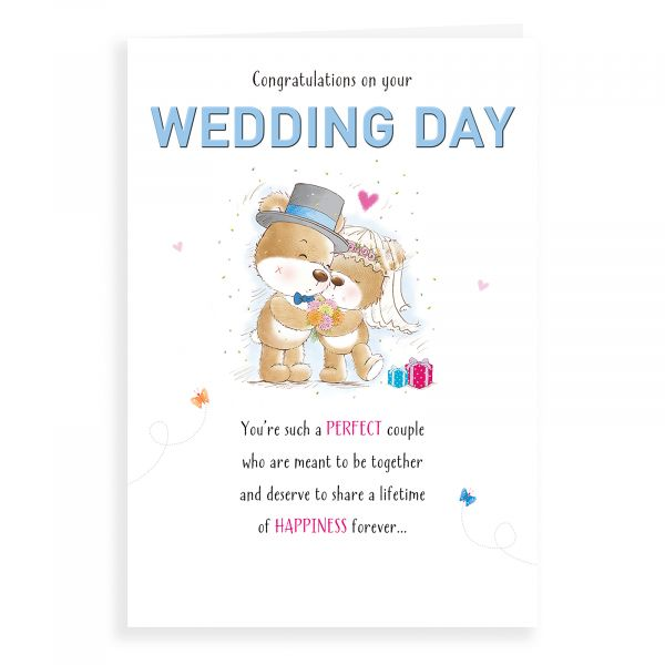 Wedding Card, Bear Couple