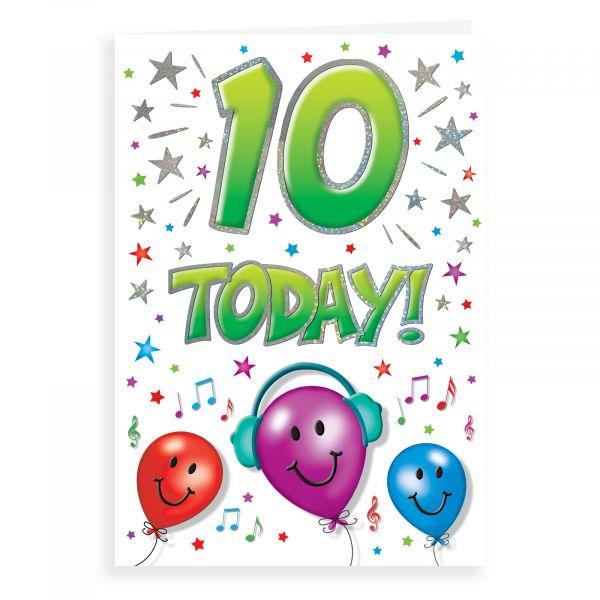 Birthday Card Age 10