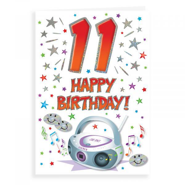 Birthday Card Age 11