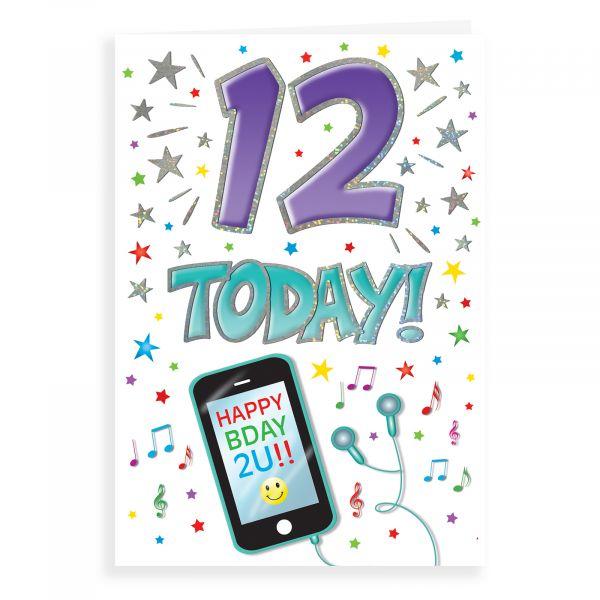 Birthday Card Age 12