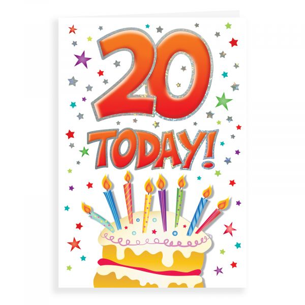 Birthday Card Age 20
