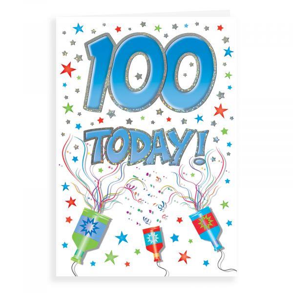 Birthday Card Age 100 M