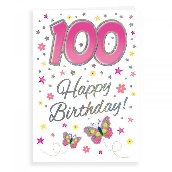 Birthday Card Age 100 F