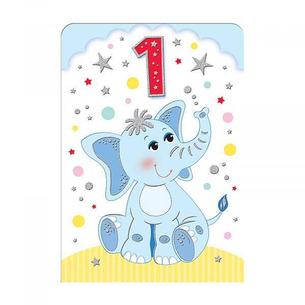 Birthday Card Age 1 Boy