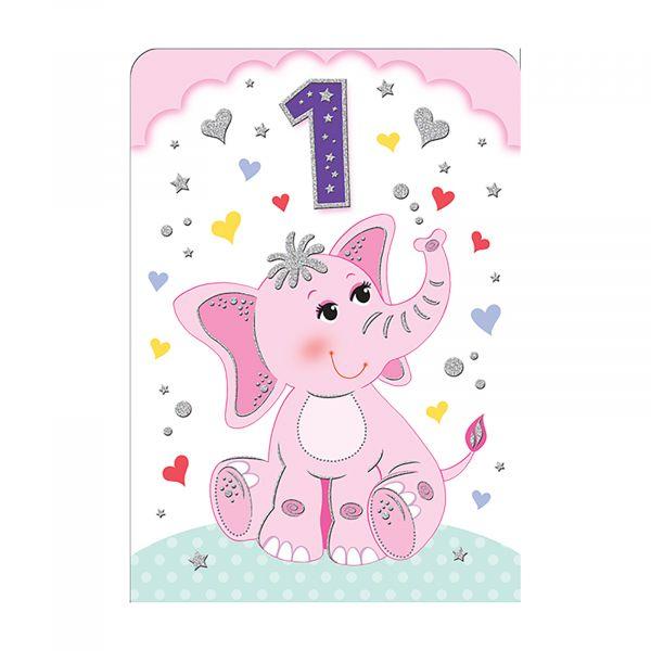Birthday Card Age 1 Girl
