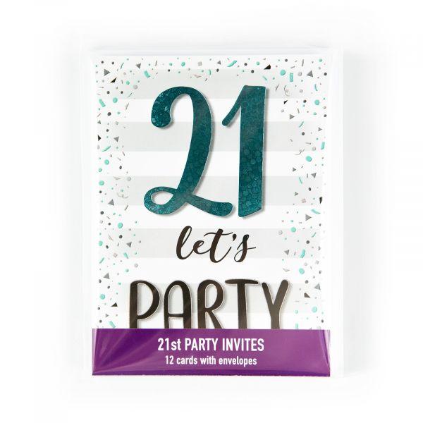 Birthday Party Invitations Age 21
