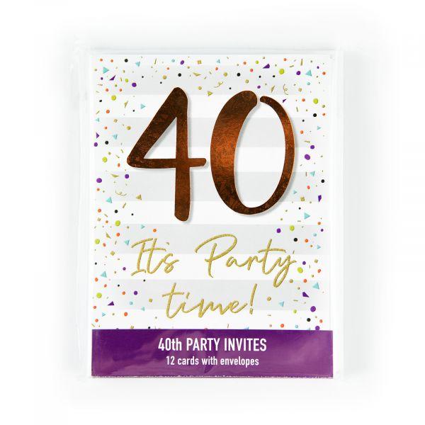 Birthday Party Invitations Age 40