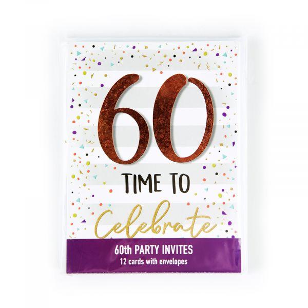 Birthday Party Invitations Age 60