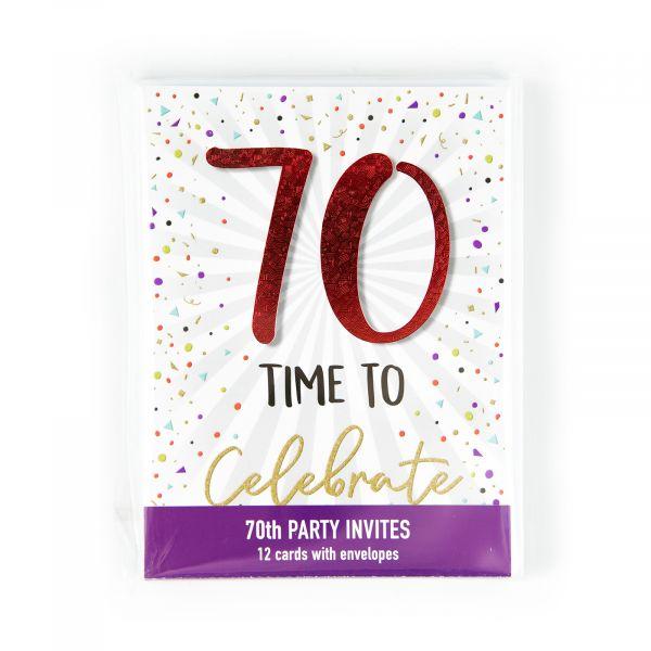Birthday Party Invitations Age 70