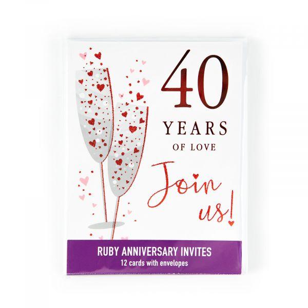Invitation Pack Ruby Annivesary 40 Years