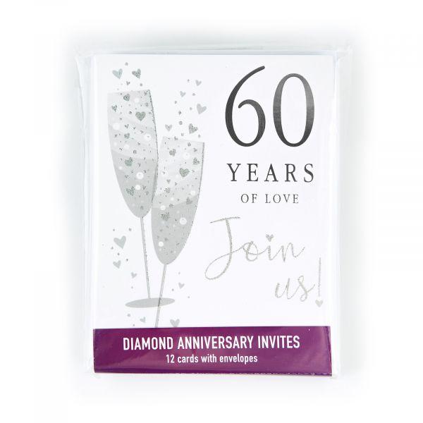 Invitation Pack Diamond Annivesary 60 Years
