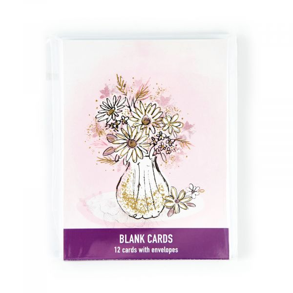 Blank Pack Flowers in Vase
