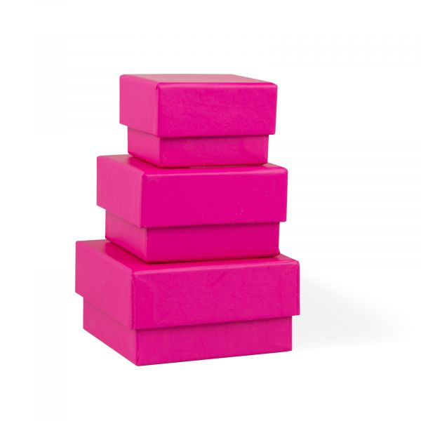 Three Pink Jewellery Gift Boxes