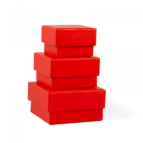 Three Red Jewellery Gift Boxes