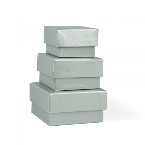Three Silver Jewellery Gift Boxes