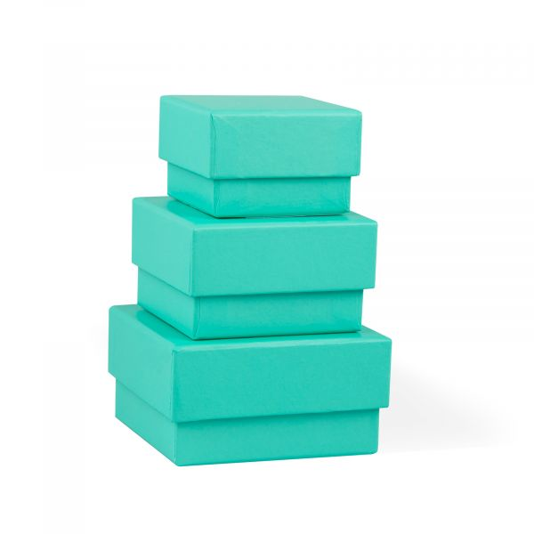 Three Turquoise Jewellery Gift Boxes